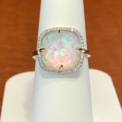 October Birthstone - Opal and Tourmaline